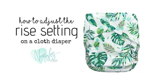 how to adjust the rise setting on a cloth diaper