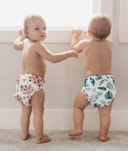 NEW Simplee Stay-dry Bamboo AI2 Diaper (OS), Nuggles!™ - Nuggles Designs Canada