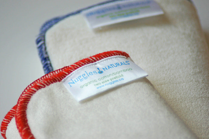 BambooLUXE Terry Prefold Insert - Nighttime (3 ply), Nuggles! Naturals™ - Nuggles Designs Canada