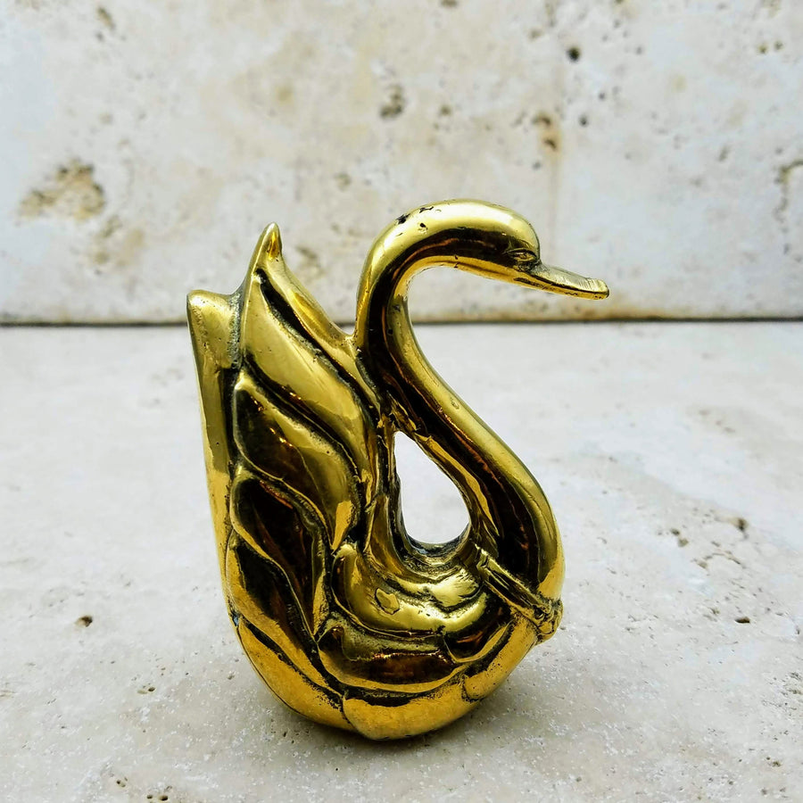 GOLD SWAN SCULPTURE
