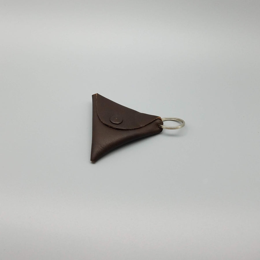 LEATHER TRIANGLE CHANGE POUCH