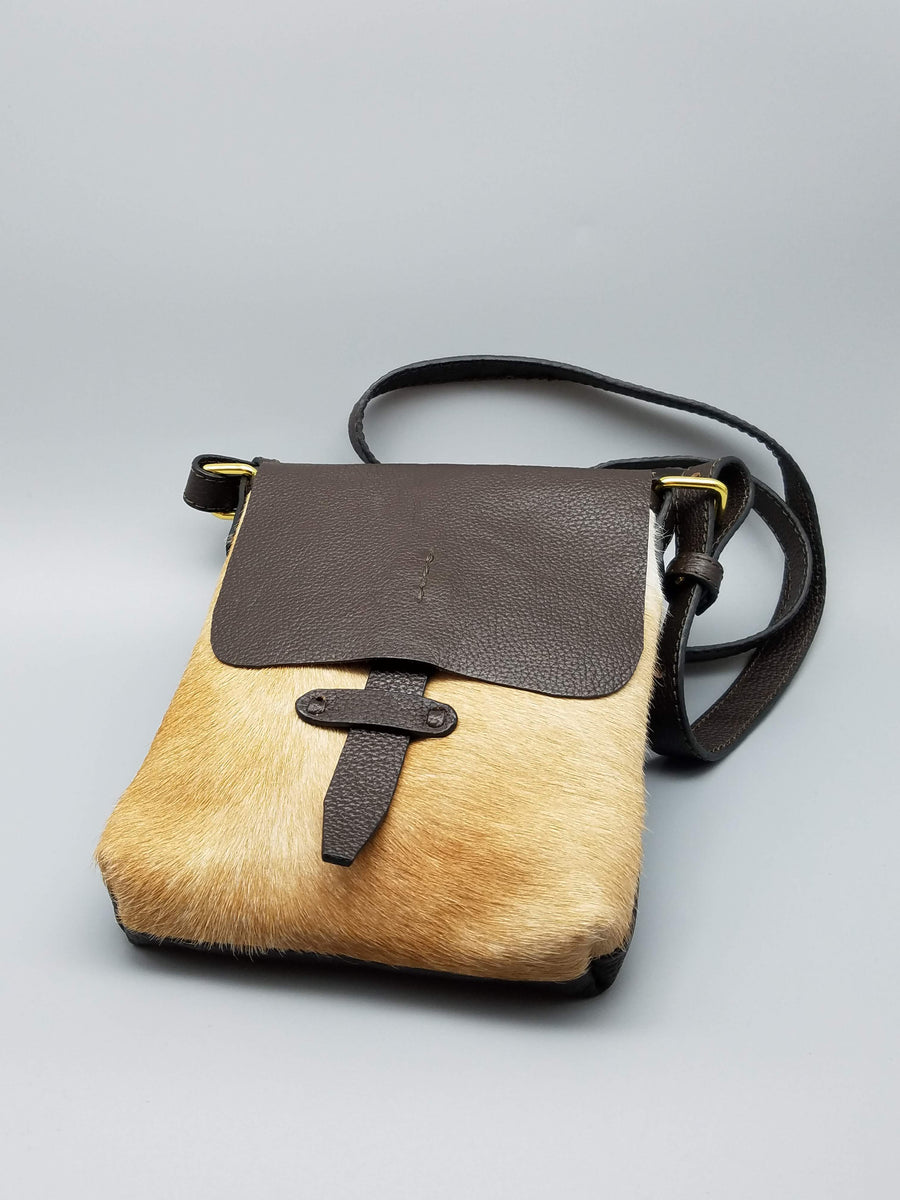 CROSS BODY COWHIDE BAG