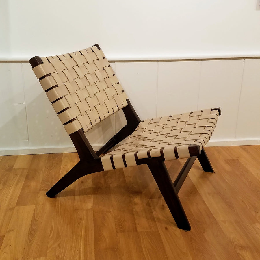 SEDAN BRAIDED LEATHER CHAIR