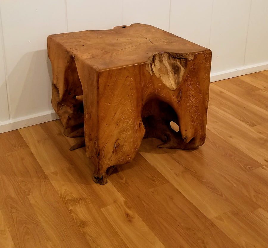 TEAK ROOT SIDE SQUARE TABLE