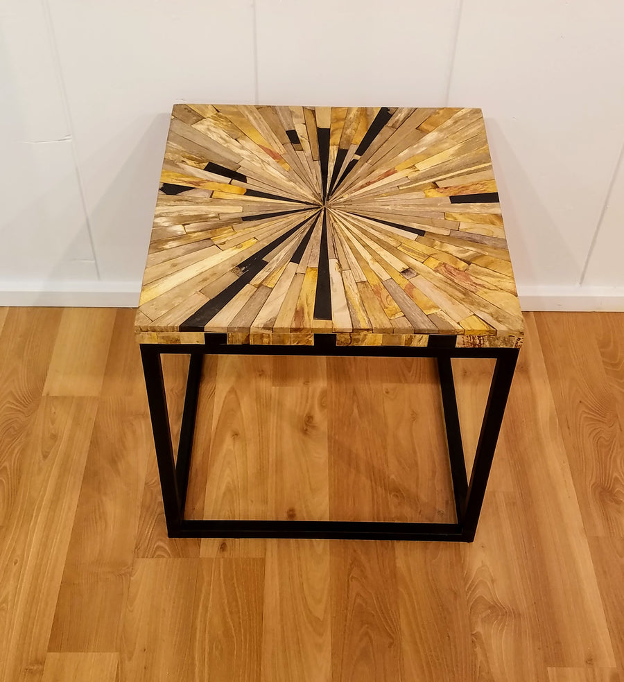MOSAIC PETRIFIED WOOD TABLE