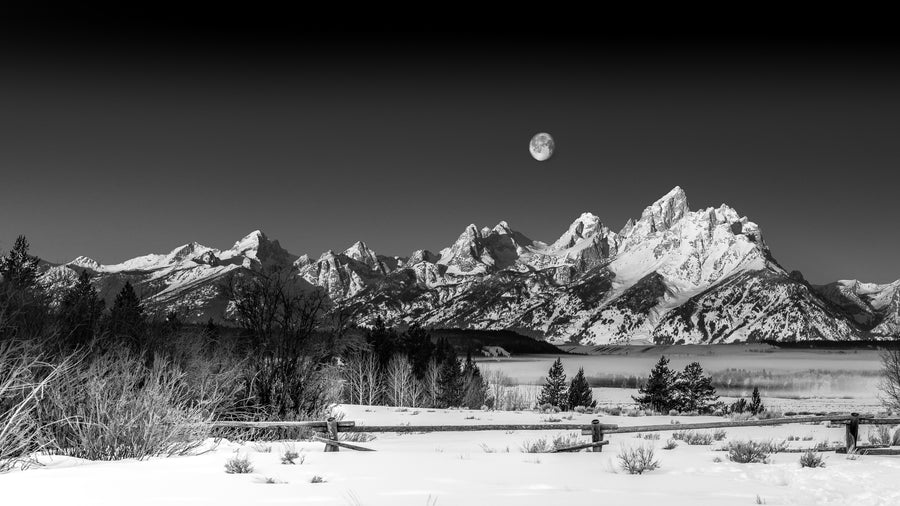 MOON OVER TETONS