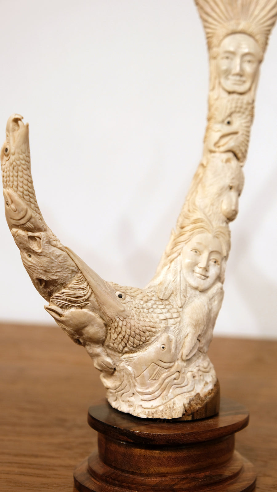 ANIMAL TOTEM CARVED FROM ANTLER