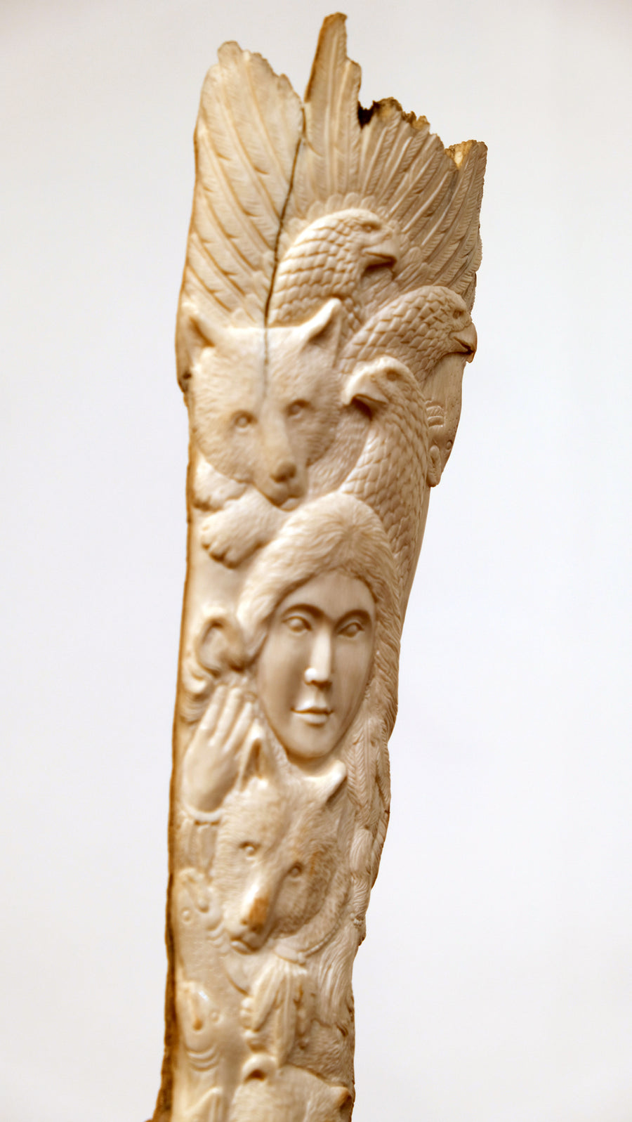 ANIMAL TOTEM CARVED INTO BONE