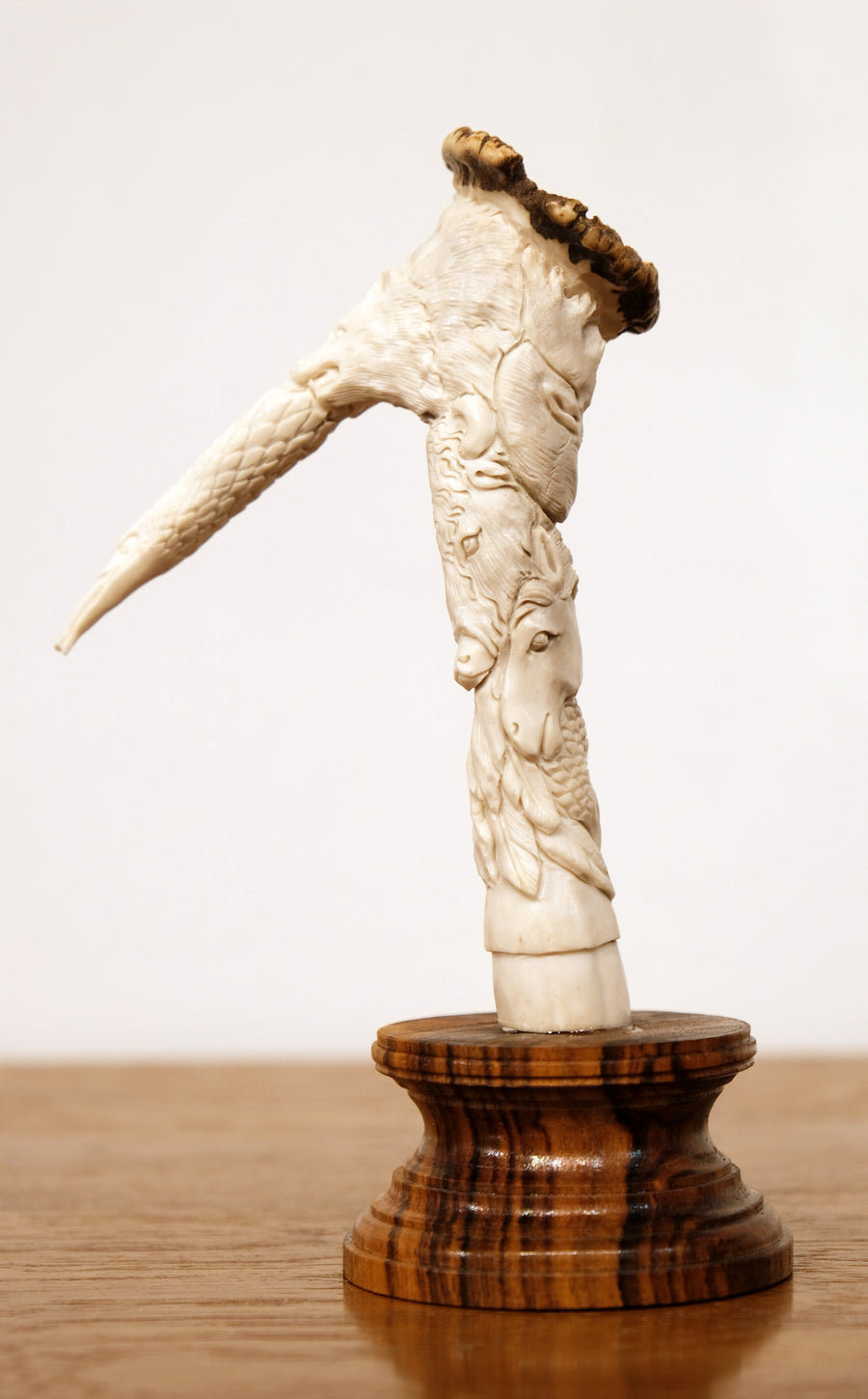 CARVED ANTLER ANIMAL TOTEM