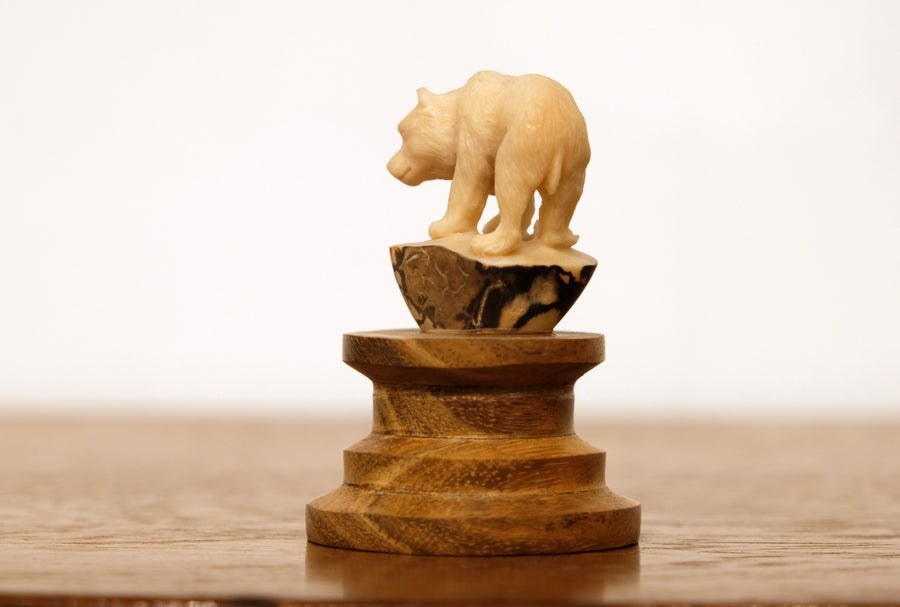 BONE CARVED BEAR