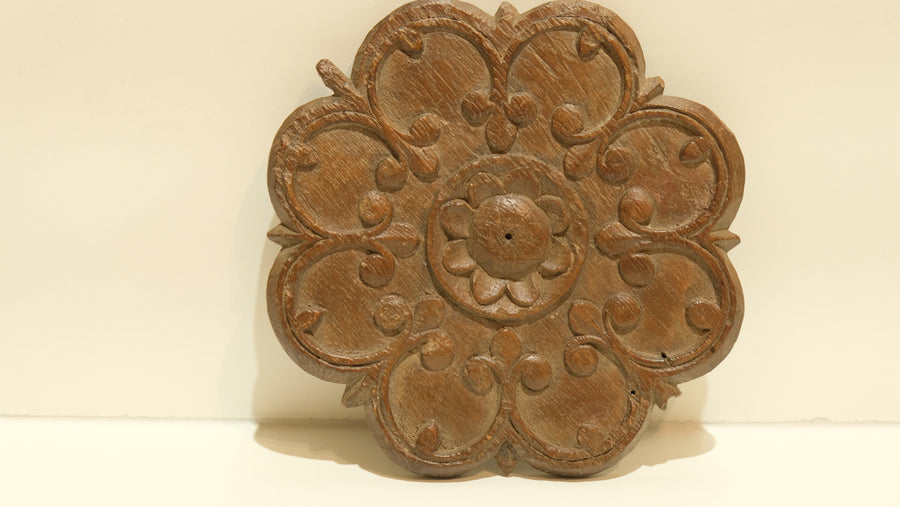 TEAK CARVED WALL HANGING