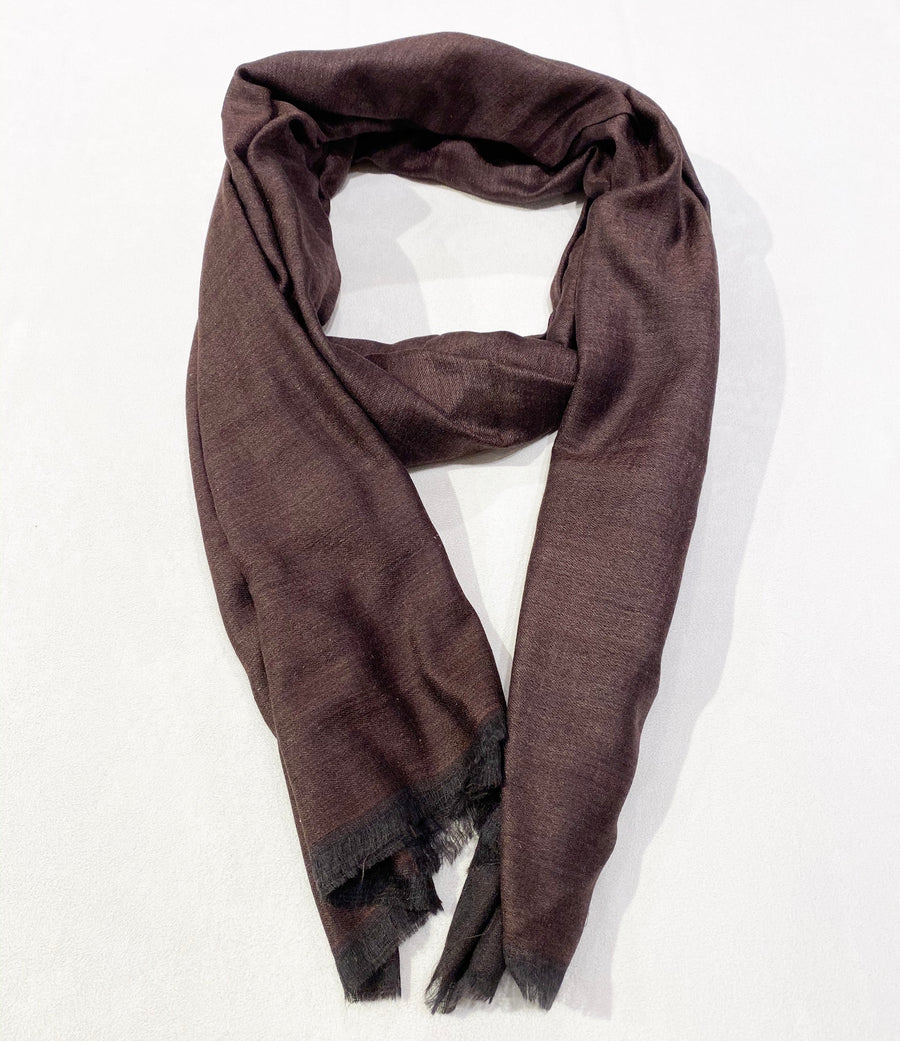 TWO-COLOR WOVEN CASHMERE SCARF
