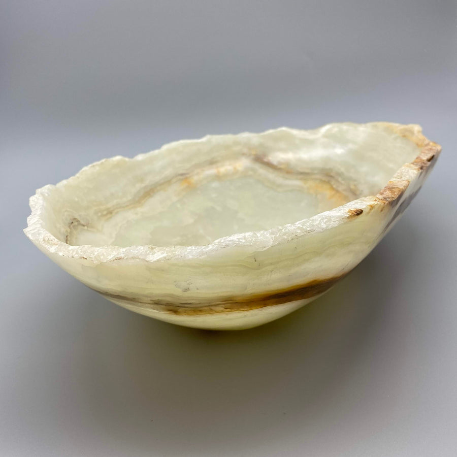 LARGE NATURAL ONYX BOWL