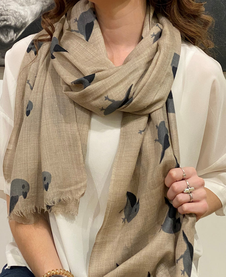 WOVEN CASHMERE PRINTED SCARF