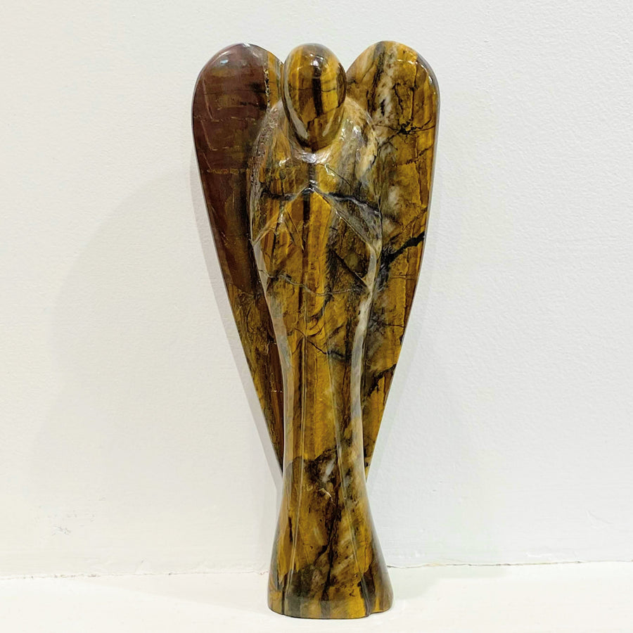 TIGERS EYE CARVED ANGEL