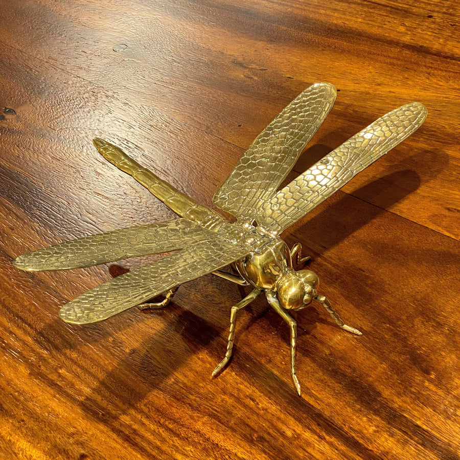 EXTRA LARGE GOLD BRONZE DRAGONFLY