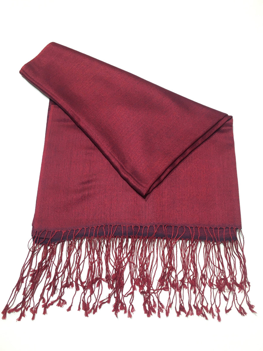 SILK FRINGED SCARF