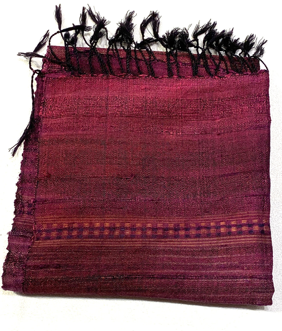FRINGES SILK SCARF