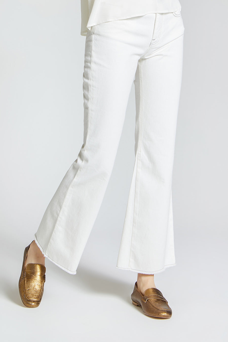 WHITE WORKER COTTON TROUSERS