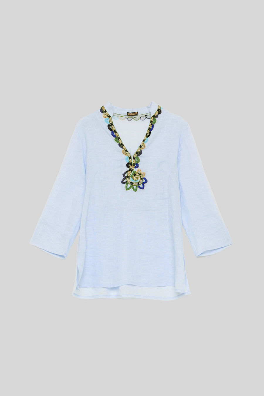 LIGHT BLUE HARMONY EMBROIDERY KAFTAN