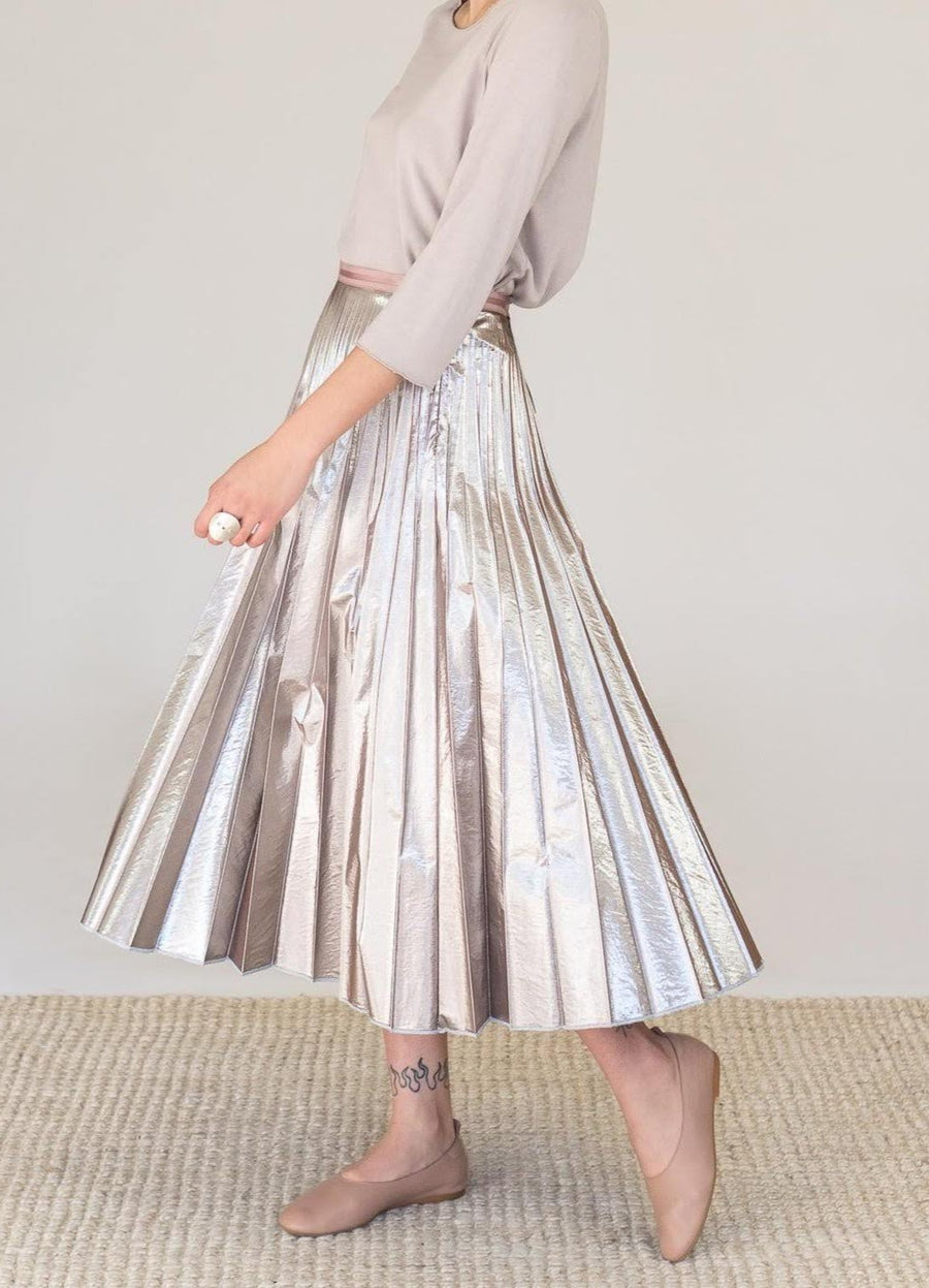 METAL PLEATED SKIRT