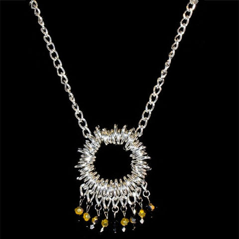 Beaded Circle Necklace - TRacy by Tracy Belben