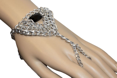 Beaded Chainmaille Hand Piece - TRacy by Tracy Belben