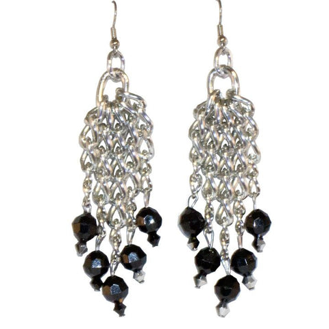 Beaded Chandelier Earrings - TRacy by Tracy Belben