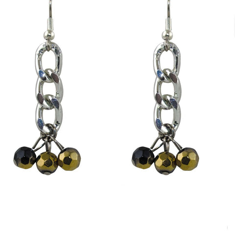 Beaded Triple Earrings - TRacy by Tracy Belben