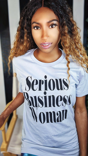Serious Business Woman Fitted T-Shirt