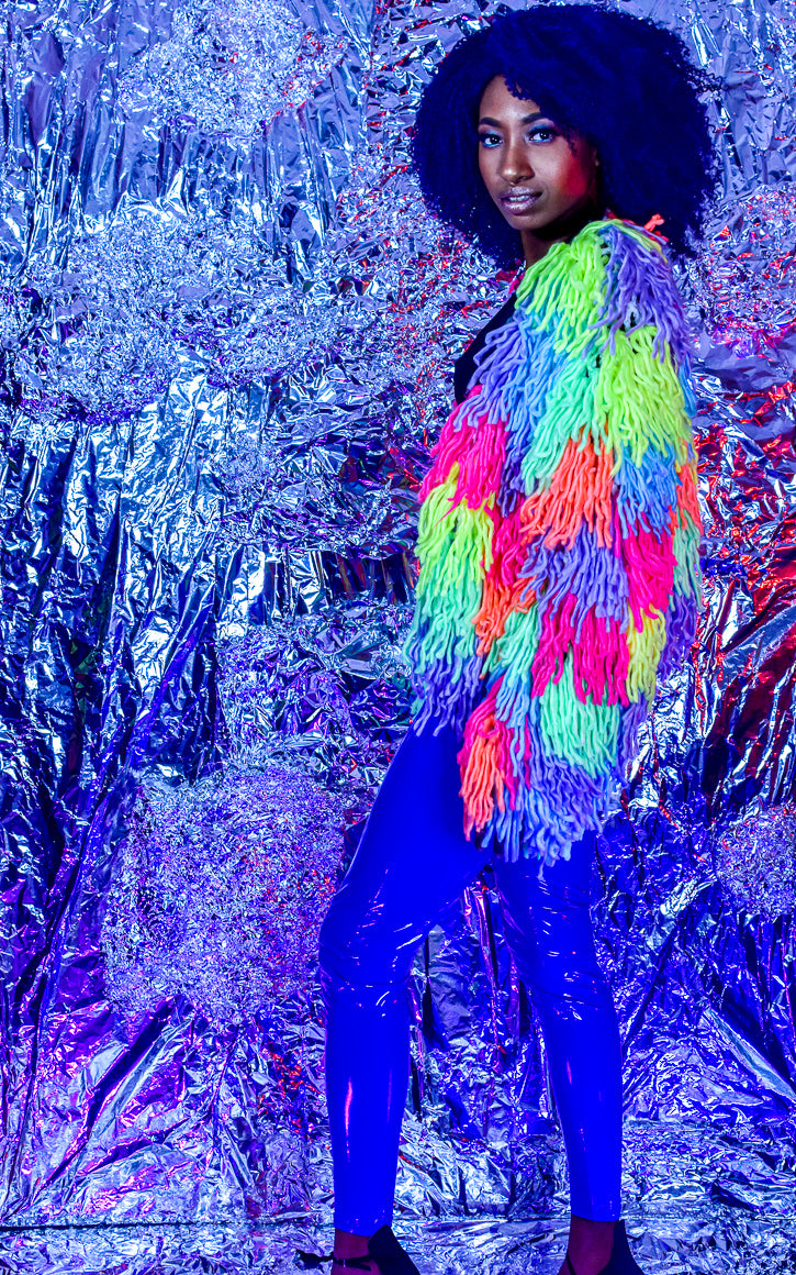 Shaggy Neon Colorful Jacket