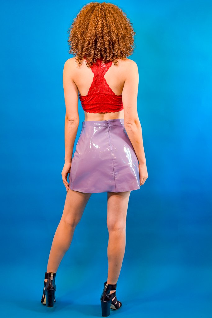 Lavender Latex Skirt - I AM THE LIST