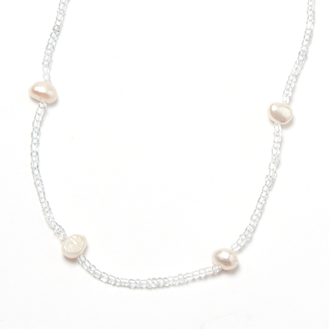 57-Inch Pearl and Crystal Wrap Necklace