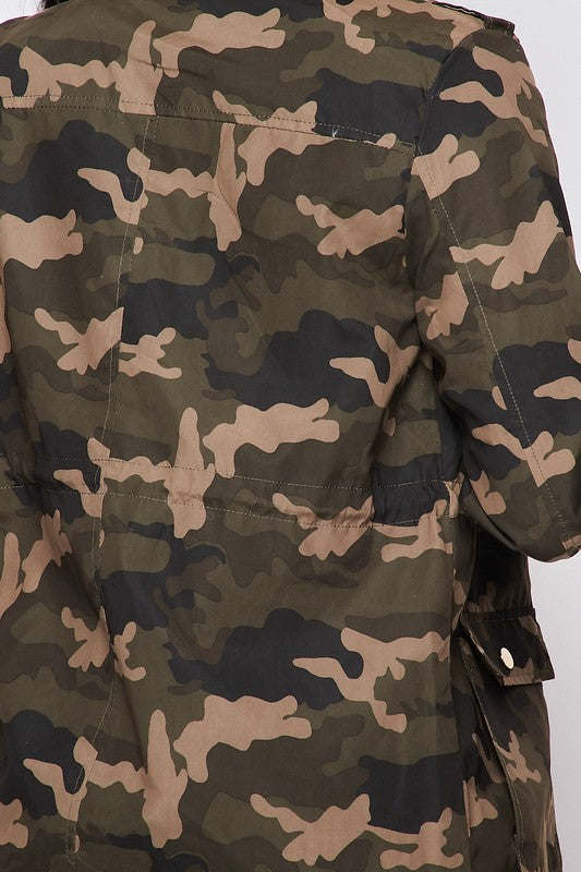 Camouflage Safari Zipper Jacket - LURE Boutique