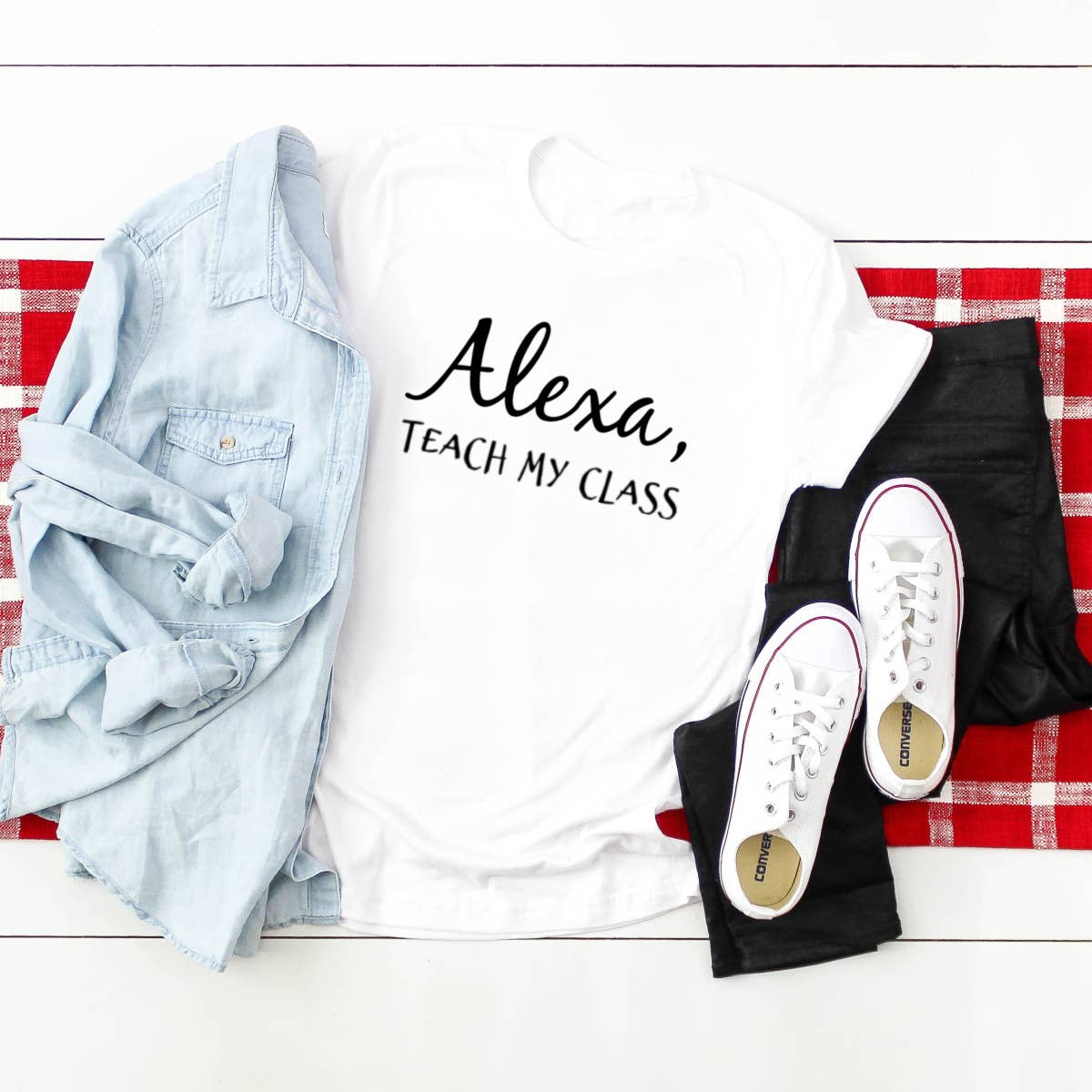 Alexa Graphic Shirt- Teach My Class - LURE Boutique