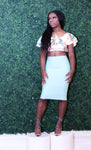 Mint Bandage Skirt - LURE Boutique