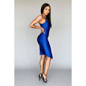 Royal Blue Spaghetti Strap Dress - LURE Boutique