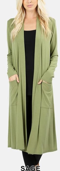 Curvy Slouchy Pocket Cardigan - LURE Boutique