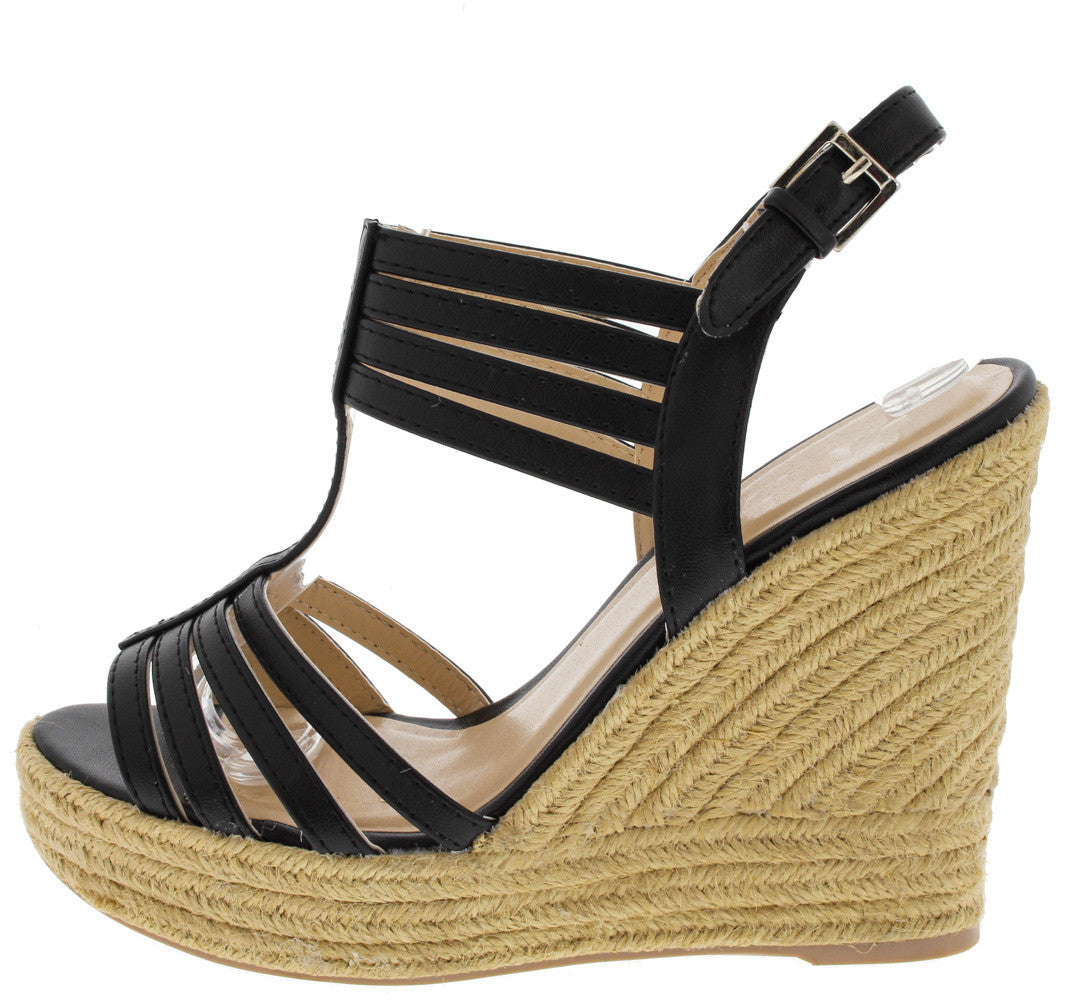 Charlotte Hampton Wedges Black - LURE CHAUSSURES SHOETIQUE - 2