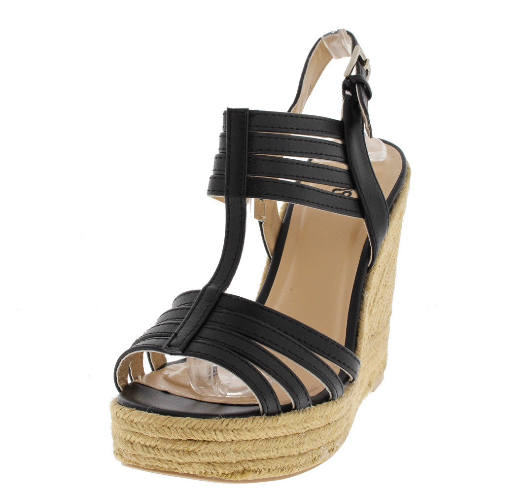 Charlotte Hampton Wedges Black - LURE CHAUSSURES SHOETIQUE - 1