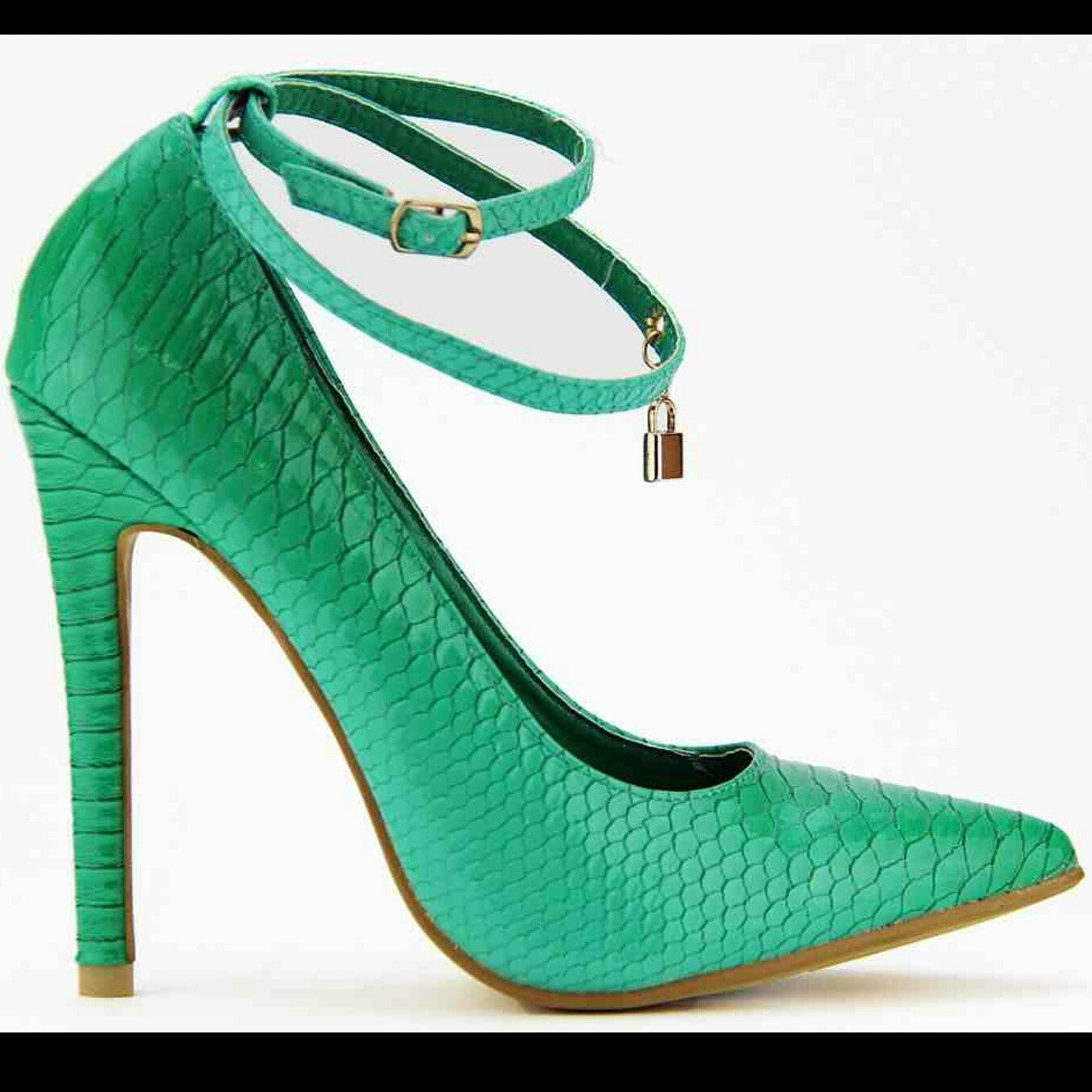 Love Lock Red Kiss Mint Green - LURE CHAUSSURES SHOETIQUE - 2