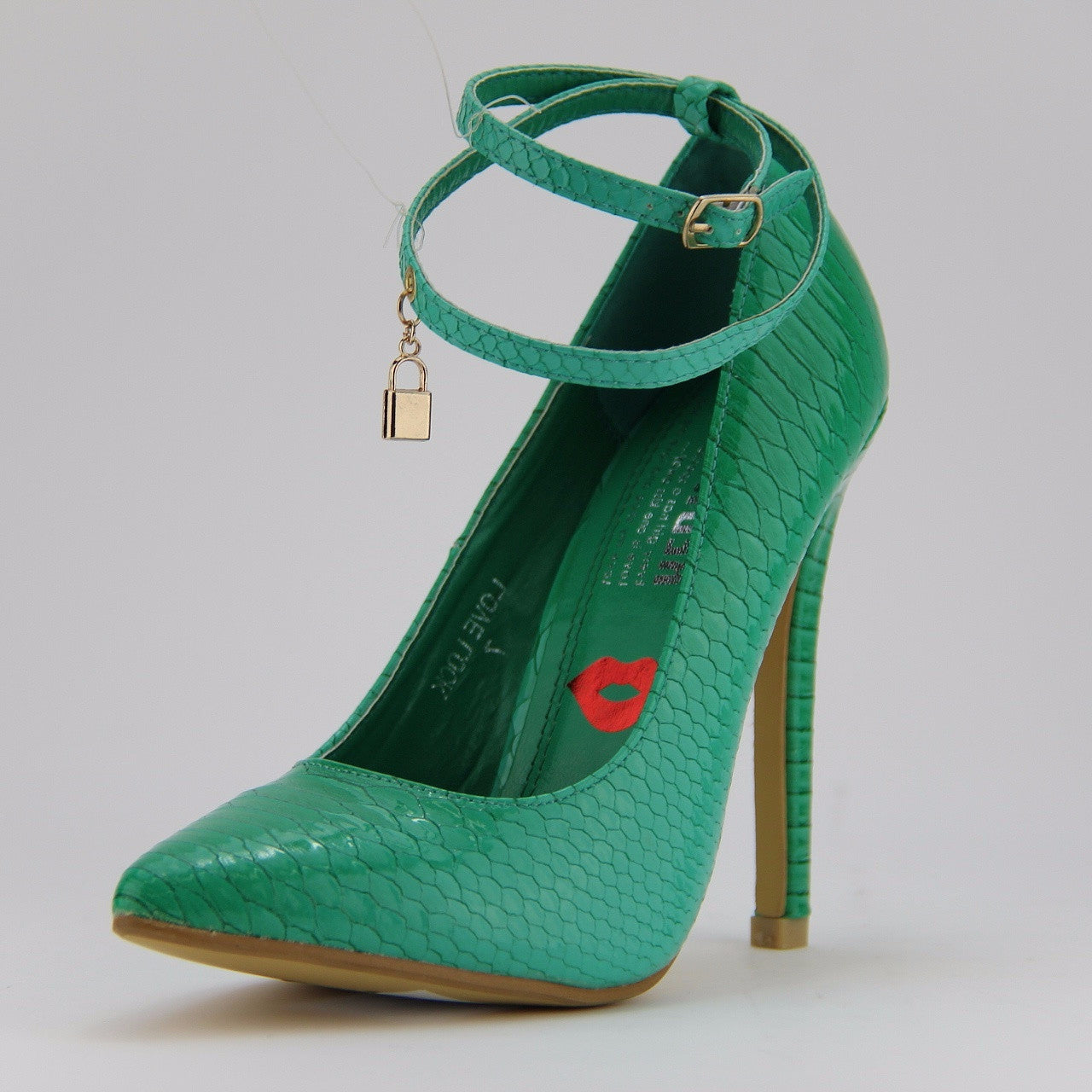 Love Lock Red Kiss Mint Green - LURE CHAUSSURES SHOETIQUE - 1