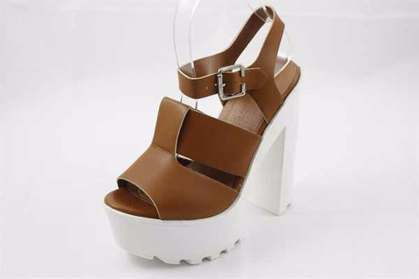 Lug Sole Whiskey Faux Leather Heels - LURE CHAUSSURES SHOETIQUE - 1