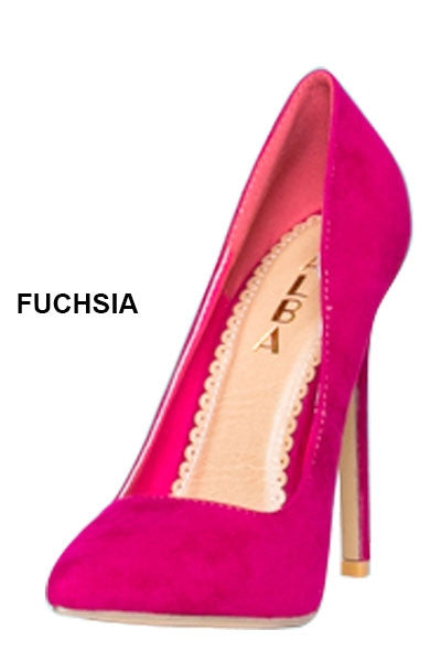 Fuschia Velvet Crush Pumps - LURE Boutique
