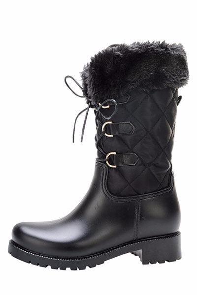 Black Lug Sole Boots - LURE Boutique