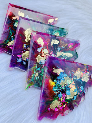 So Psychedelic Resin Coasters - LURE Boutique