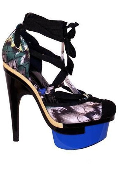 Blue & Black Inspired Pumps - LURE Boutique