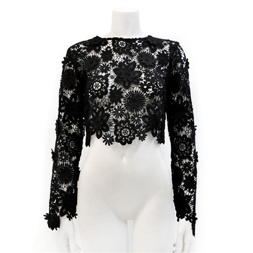 Gracia Ny Eyelet Long Sleeve Top - LURE Boutique