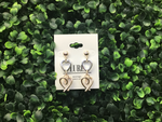 Tear Drop Double Heart Earrings - LURE Boutique