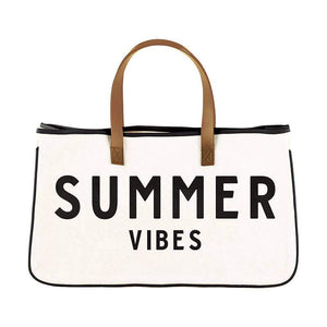 Summer Vibes Leather Weekend Tote - LURE Boutique